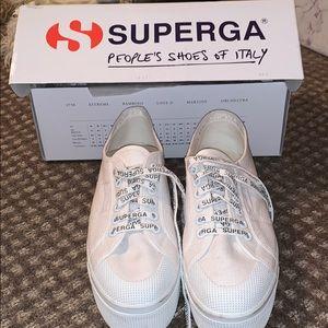 Superga Women's 2423 Cotw White/White Sneaker